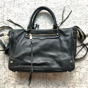 Rebecca Minkoff Black Satchel- Leather
